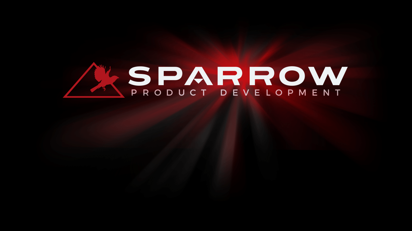 Sparrow Product Development landing page. Call us at 877-374-0223